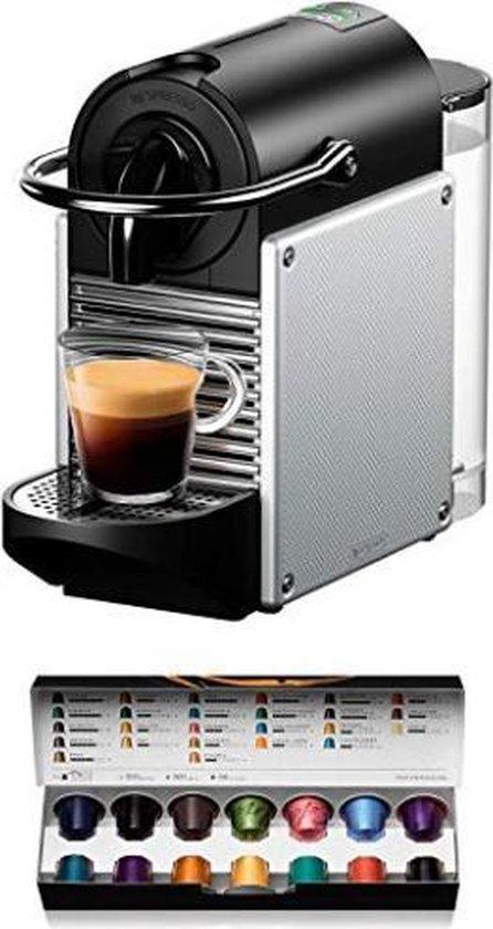 De'Longhi EN124.S Nespresso koffie machine Pixie 1260 Watt zijwanden gemaakt van gerecyclede Nespresso-capsules, zilver