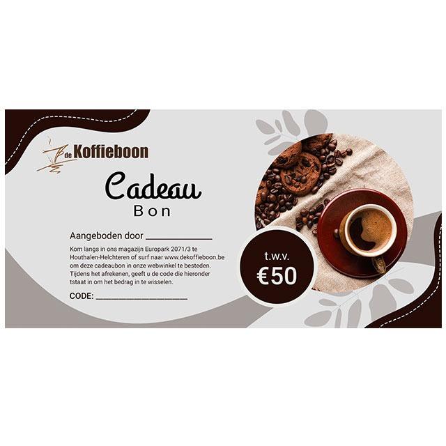 De koffieboon cadeaubon €50
